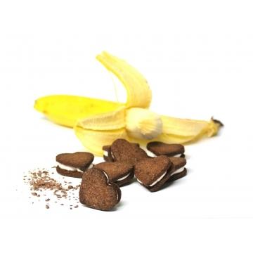 Schoggi Guetzli mit Bananen Füllung